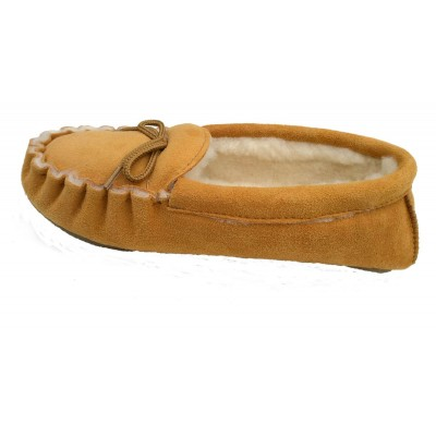 mocassins moutarde en peau de mouton - tannage naturel
