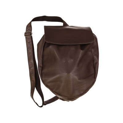 sac cuir marron DalZotto - 1000 M - casque moto