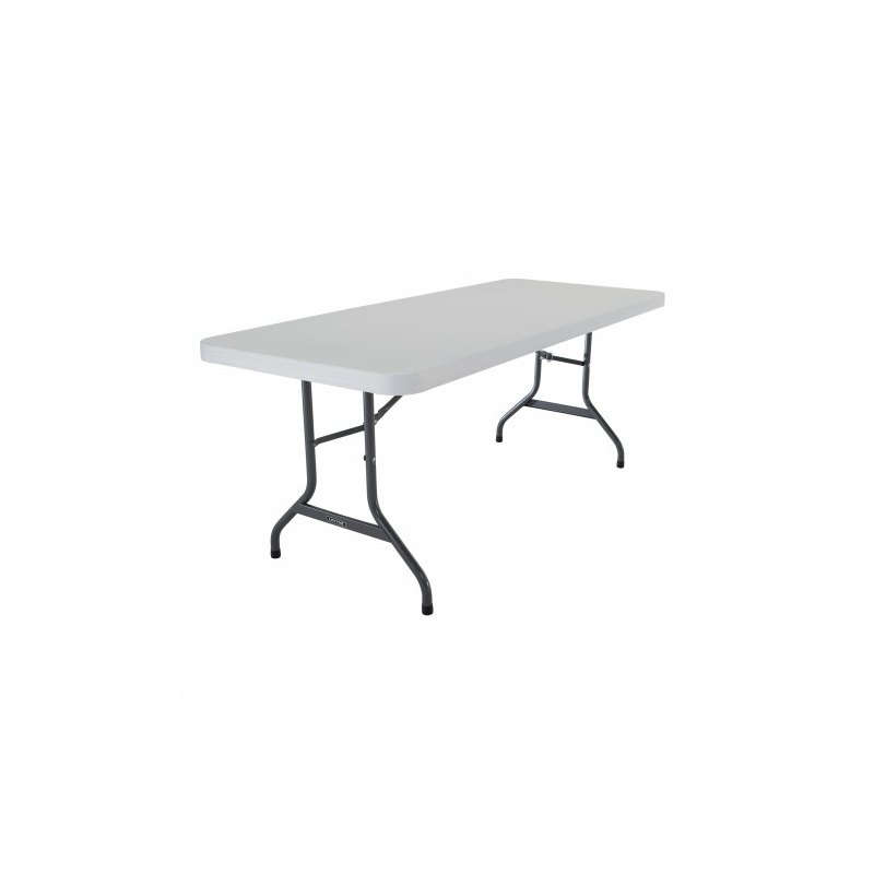 Lnd table rectangulaire pliante 8 pers int exterieur for Lifetime table pliante