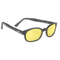 X-KDS 11112 -1 black matte frame - yellow lens sunglasses by cachalo