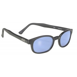 X-KDS 10012 -1 black matte frame - blue lens sunglasses by cachalo