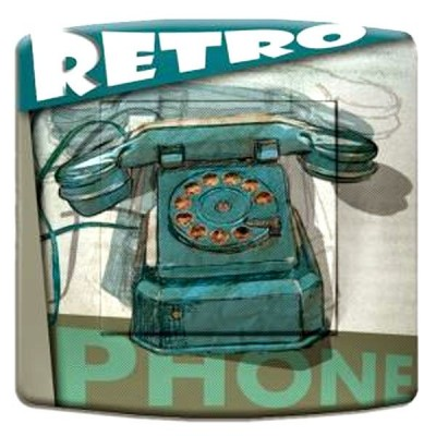 interrupteur décor - Vintage phone