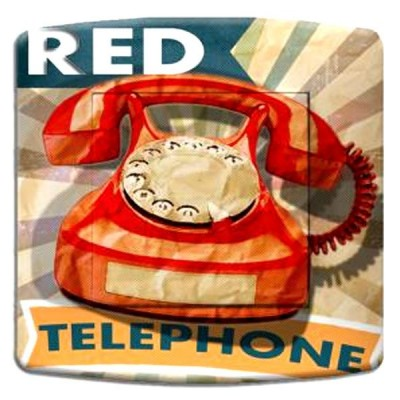 interrupteur décor - Red phone