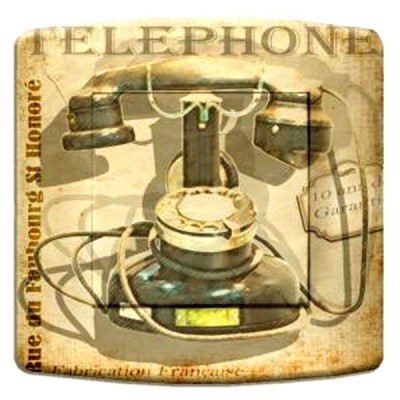 interrupteur décor - Retro phone