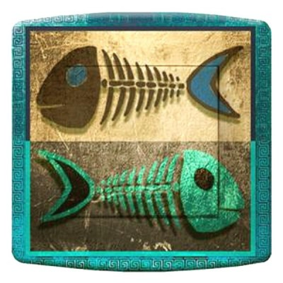 interrupteur décor - Blue fish