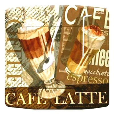interrupteur décor - Café latte